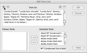 Adding Font Stacks to Dreamweaver « ISA Web Design and Consulting