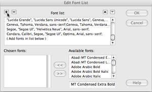 Adding Font Stacks to Dreamweaver « ISA Web Design and